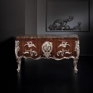 Roma RM168, Ebony chest of drawers, with marble top