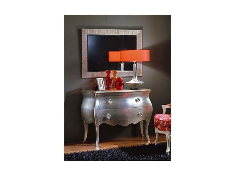 Silver chest of drawers, Old style units with drawers Historic villa