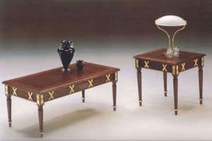 2825 RECTANGULAR COFFE TABLE, Classical carved wooden coffee table, finishing in gold leaf