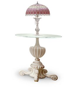 4614/TL, Round lamp table with Tiffany style lamp