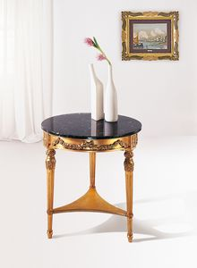 Art. 157, Side table with black marble top