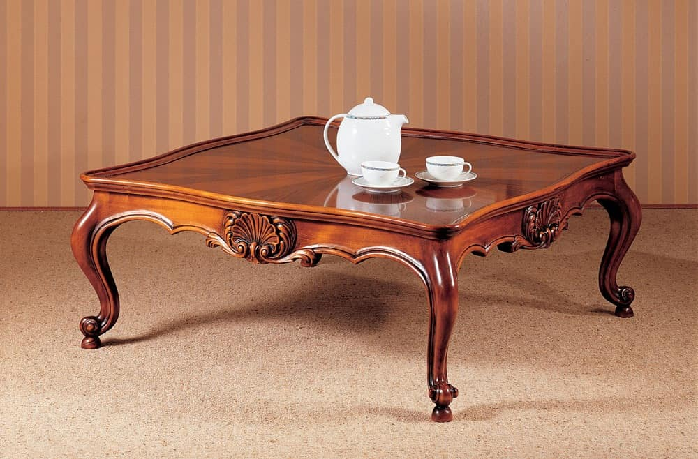 Traditional Luxury Coffee Table Carefully Carved For Livingroom Idfdesign
