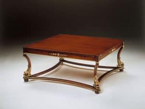Art. 223/Q Nettuno, Classic wooden coffee table, for reception