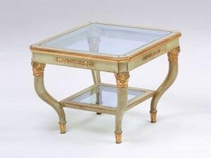 Art. 302 Mida, Coffee table elegantly carved, for luxury hotel