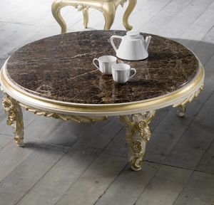 Art. 4083.099, Low table with floral carvings, classic style
