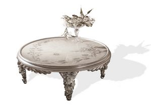 Art. 4083, Coffee table with hand-painted top