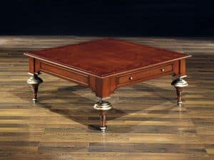 Picture of BILL coffee table 8444T, classic small table in carved wood