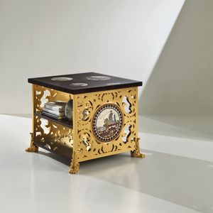 Capri CP175, Coffee table with decorative perforated wood