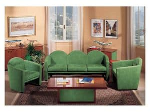 Picture of Enea Sofa, preciously decorated small tables