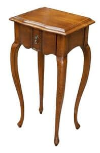 Gabriele FA.0140, Wooden table with one drawer, luxury classic style