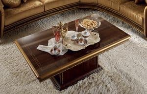Giotto coffee table, Luxury classic coffee table, with rectangular base