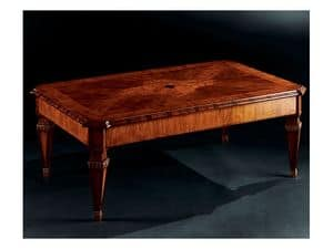Picture of Maggiolini coffee table 798, classic small table in worked wood