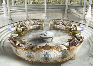 Millionaire B/1804/1, Round table center, lounges for classic luxury