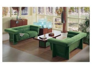 Picture of Milos Sofa, preciously decorated small tables