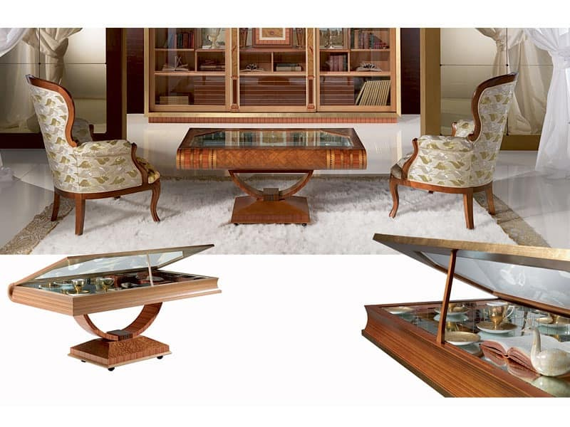 TL30 Libro, Book Shaped Coffee Table, Display For Ornaments