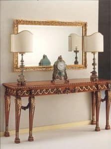 2790 CONSOLE, Consolle in carved wood, luxurious classic style