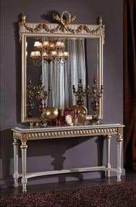 3425 CONSOLE, Console with marble top, in Louis XVI style