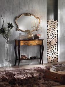 Art. 087 CONSOLE, Solid wood console, with metal handles
