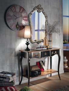 Art. 128 SHAPED CONSOLE, Shaped console with sinuous legs, in classic style