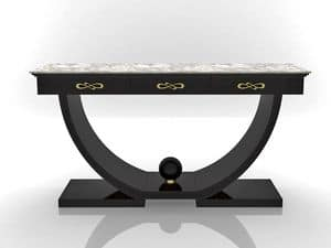 Asia console, Console with marble top, for prestigious hall