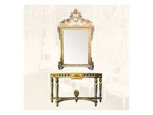 Console art. 203, Consolle with gold finishings, Louis XVI Style