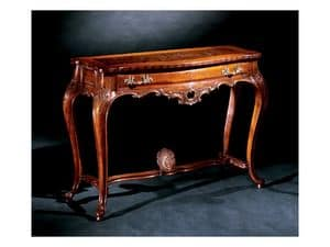 Console console 714, Luxury classic console in carved wood