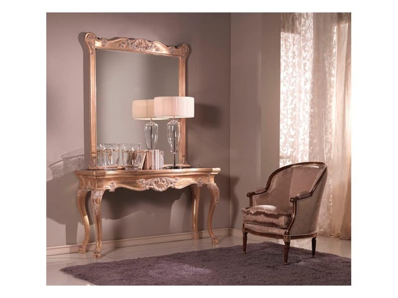 Consolle and mirror venetian style idfdesign for Consolle classiche