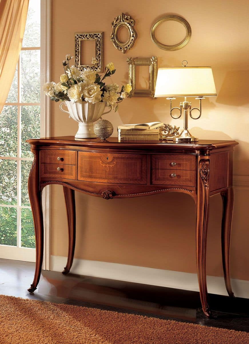 Wooden console ideal for classic luxury environments for Console mobile