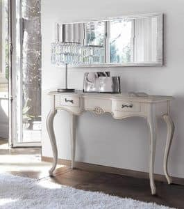Firenze console, Classic console in lacquered wood, with 3 drawers
