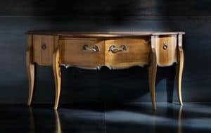 Museum Art. 03.831, Classic console with top in antiqued cherry