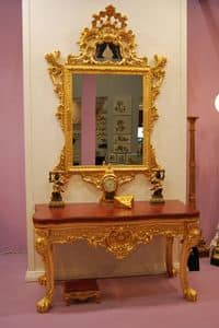 Picture of SET CONSOLE + MIRROR ART. CL0013+CR 0058, suitable for halls