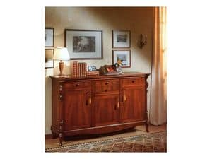 Picture of 96 NOCE / Sideboard with 3 doors, wooden sideboard