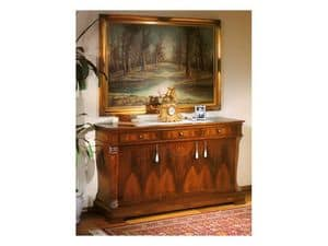 Picture of 99 NOCE / 3 doors sideboard, wooden sideboards