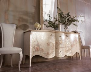 Art. 0163, Sideboard with handcrafted floral decorations