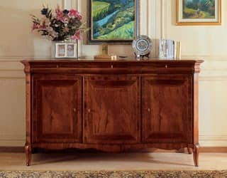 Art. 903 sideboard '800 Francese, Inlayed sideboard, luxury, for dining room