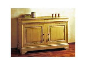 Picture of Classical lacquered sideboard Castellane, wooden sideboard