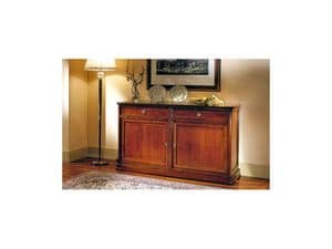 Picture of Classical sideboard 2 doors Perla, wooden sideboard