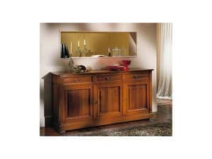 Picture of Classical sideboard 3 doors Adelaide, sideboard with drawers