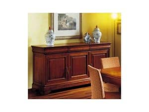 Picture of Classical sideboard 3 doors Castellane, sideboards in wood