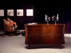 CR18 Godet, Classic sideboard in bent wood, briar decorations