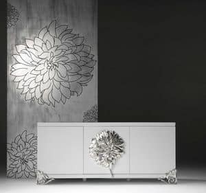 Picture of Credenza 3 ante_flower, classic style living room furniture