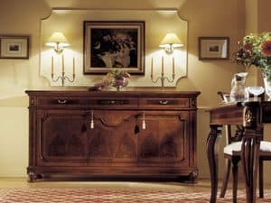 Picture of GRANDUCATO / 3 doors sideboard, inlayed sideboard