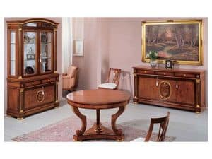 Picture of IMPERO / Sideboard with 3 doors, classic style living room cabinets