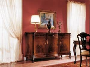 Picture of ROYAL NOCE / Sideboard with 3 doors, inlayed sideboards