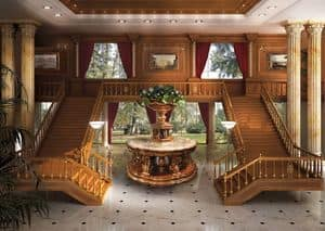 01 Boiserie, Classic luxury Wainscoting, finishes in gold leaf