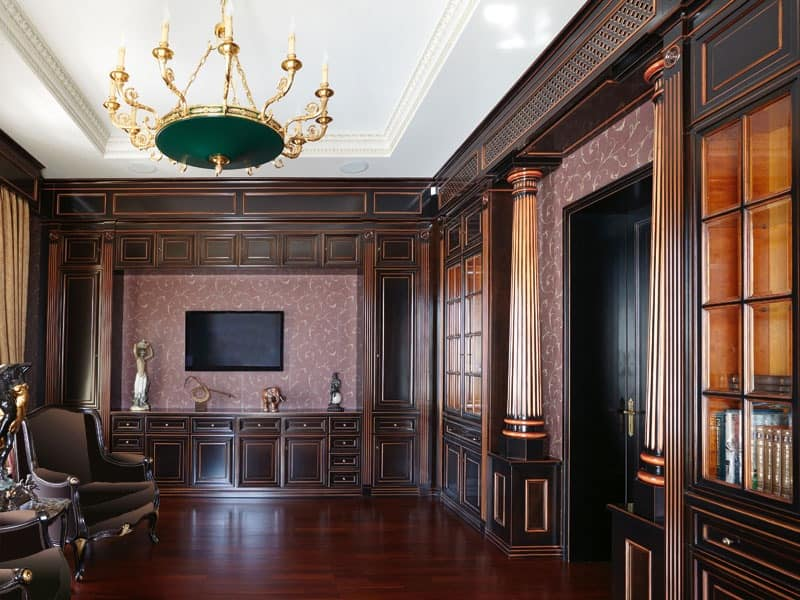 nice luxury wood wall paneling house