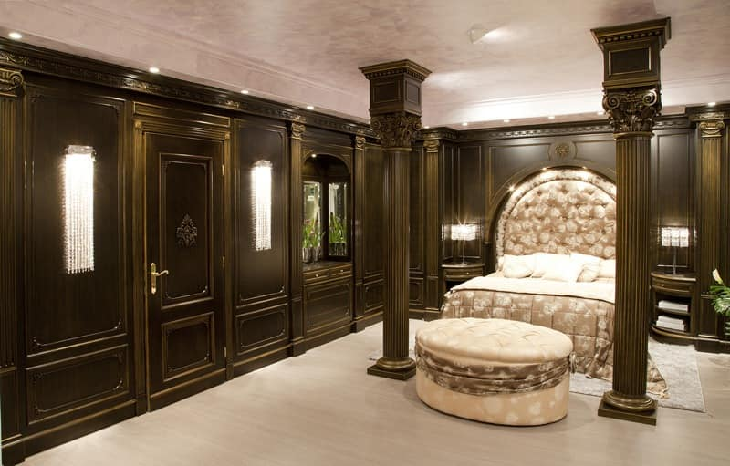 Bedroom Boiserie 2, Coated Wood Paneling, For Luxuriuos Bedrooms