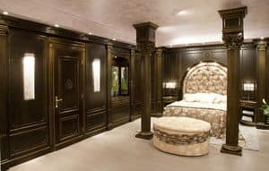 Picture of Bedroom boiserie 2, luxury classic panelling