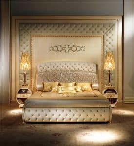 BOIS04, Luxury classic boiserie, tufted, relief decoration