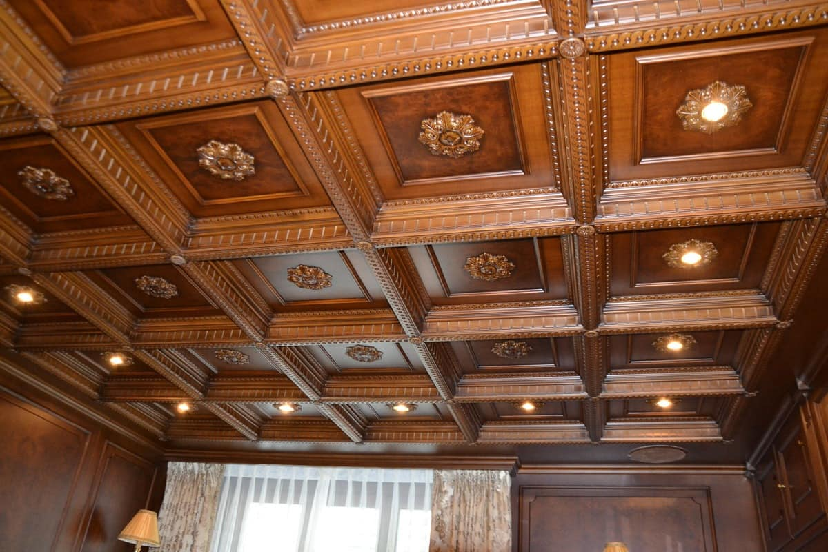 Wood Ceiling Panels ~ Luxury classic panelling hotel idfdesign